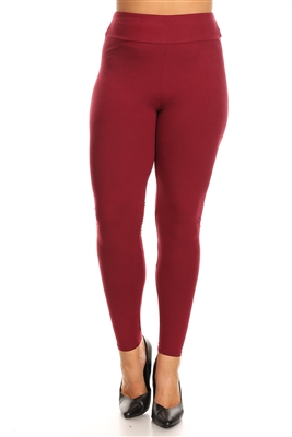 Plus Size High Waist Solid Super Stretch Leggings